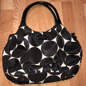 Kate Spade Black Polka Dot Hobo Bag